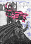 Batman and Batwoman by DarkKnightJRK
