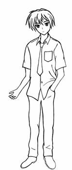 Clannad - Tomoya lineart: Wish