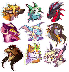 FLOATING HEADS EVERYWHERE by squeedgemonster