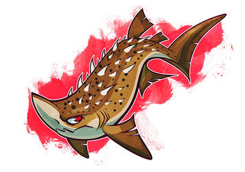 SHARKWEEK: Bramble Shark by squeedgemonster