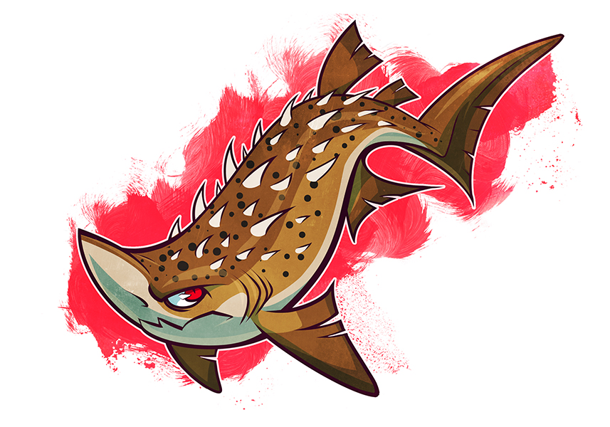 SHARKWEEK: Bramble Shark by squeedgemonster