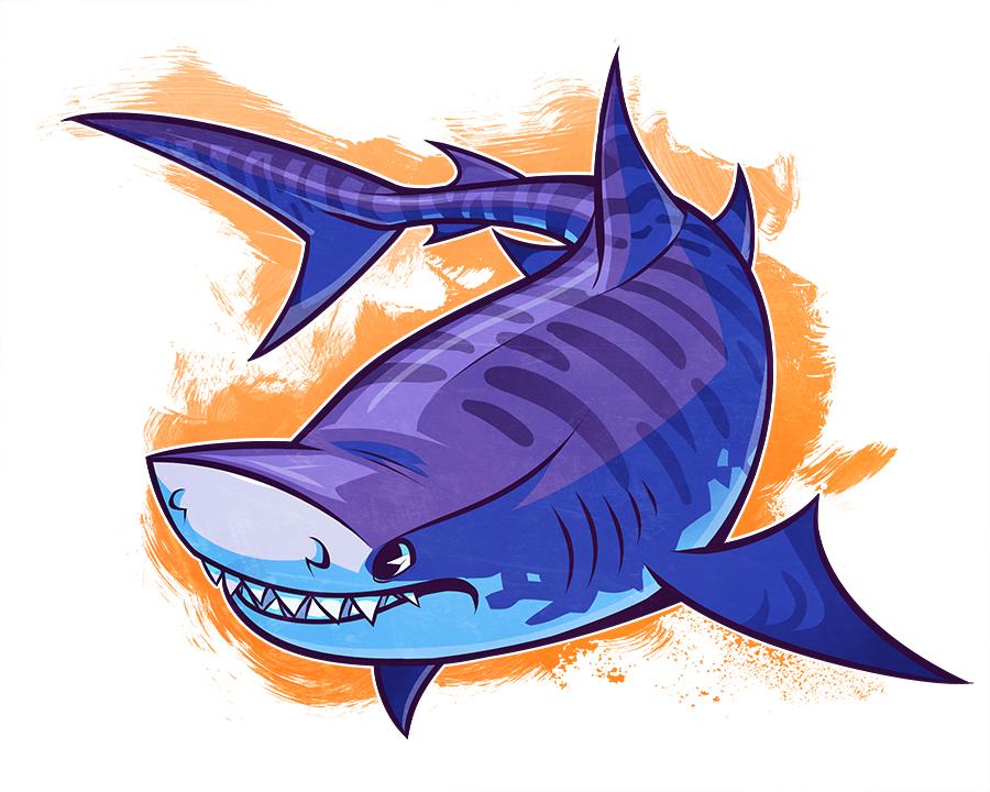 sharkweek tiger shark by squeedgemonster on deviantart rh deviantart com tiger sharks cartoon episode list tiger shark cartoon toys