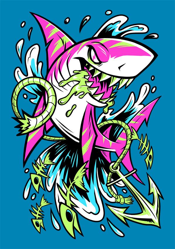 SHARK SPLASH by squeedgemonster