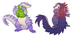 Swamp Fashionistas by squeedgemonster