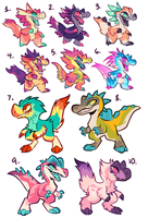 DINO ADOPTS - ALL CLAIMED by squeedgemonster