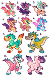 DINO ADOPTS - ALL CLAIMED
