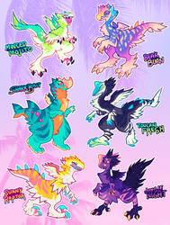 Tropical Avisaurs [CLOSED] by squeedgemonster