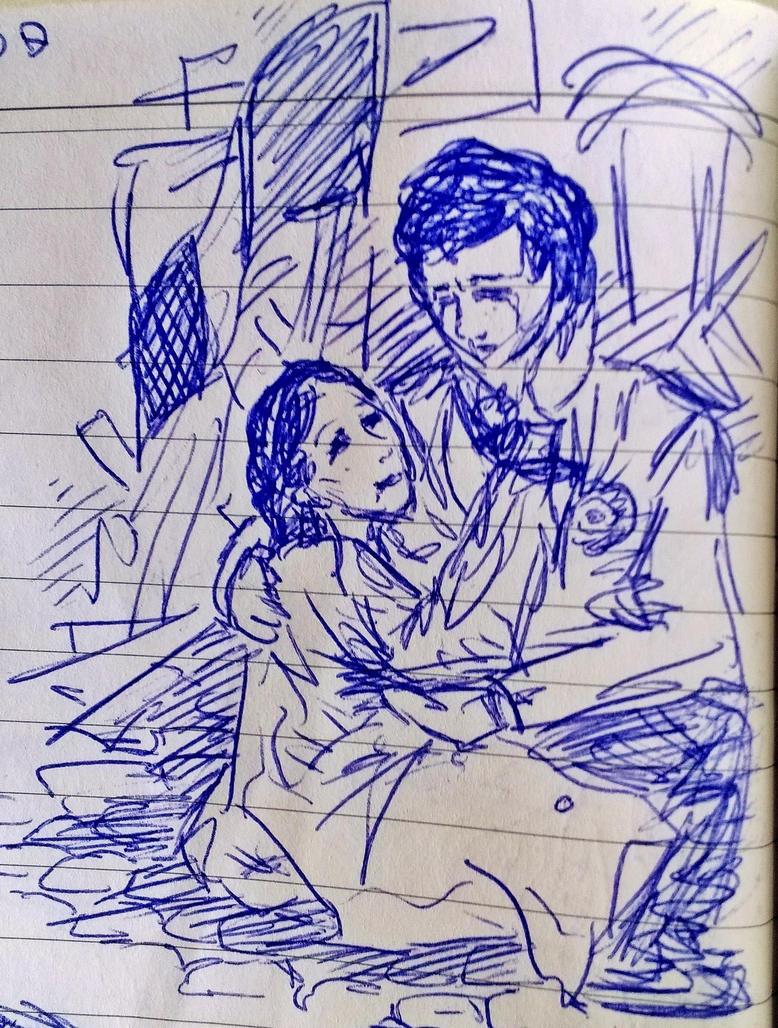 Eponine's Death (sketch) by HeeLash