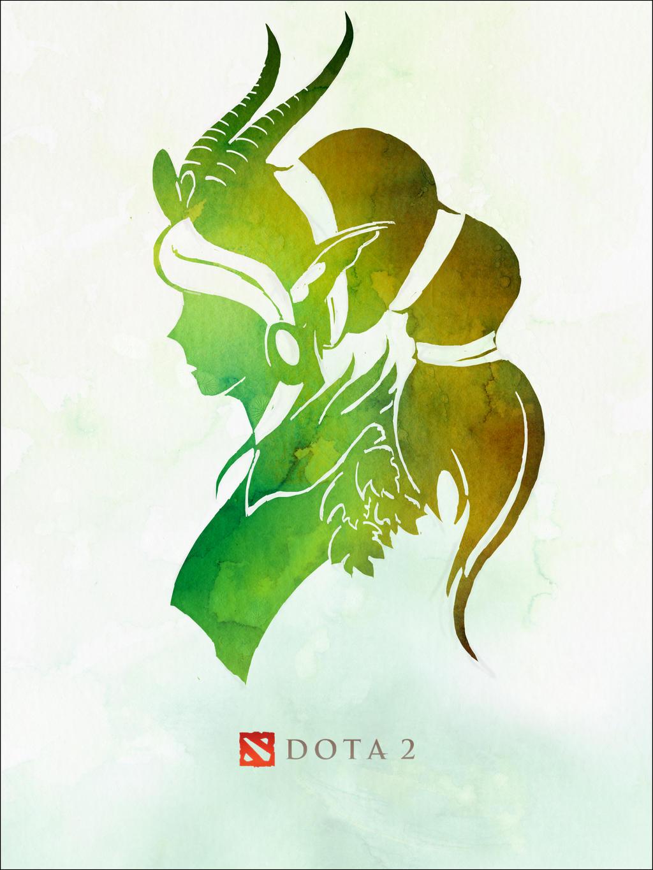 Enchantress dota 2 fan art