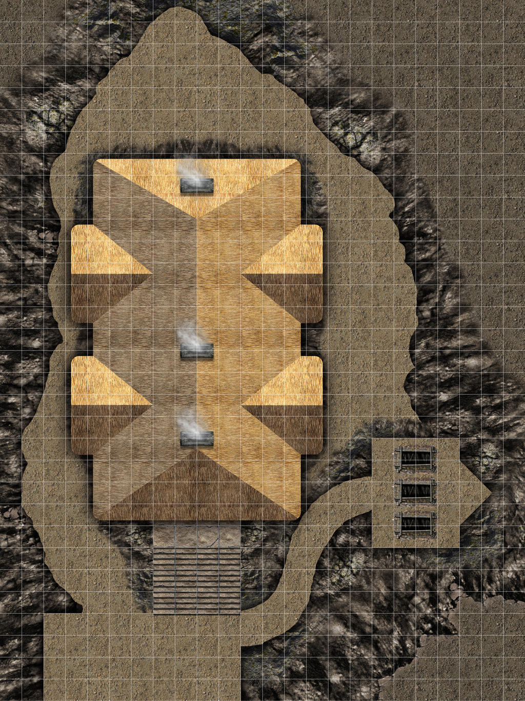 A-10 Great Hall of The Jarl EXTERIOR 20x32