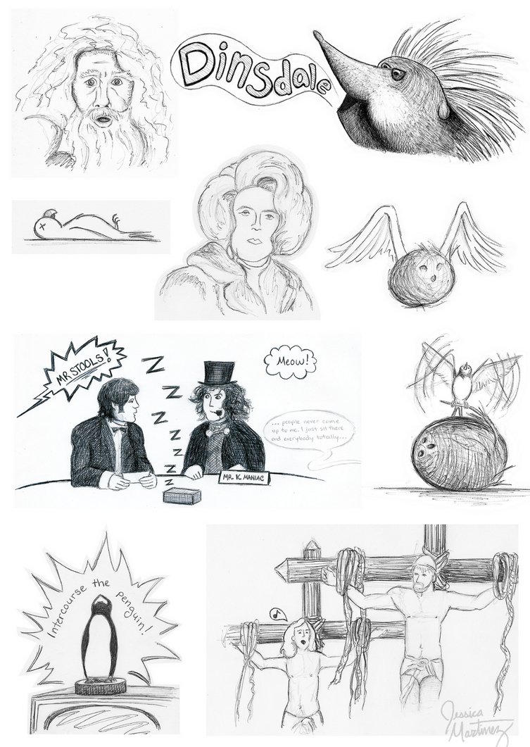 Monty Python Doodles by CountryDreamer