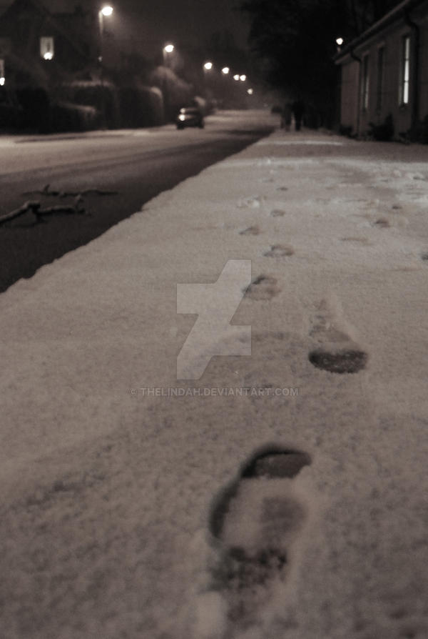 Footsteps in the Snow by theLindah