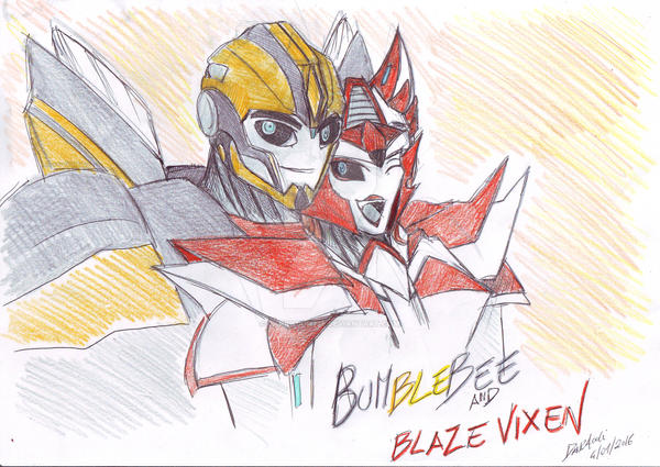 Blaze Vixes and Bumblebee