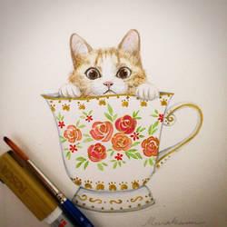 Tea Cat Cup