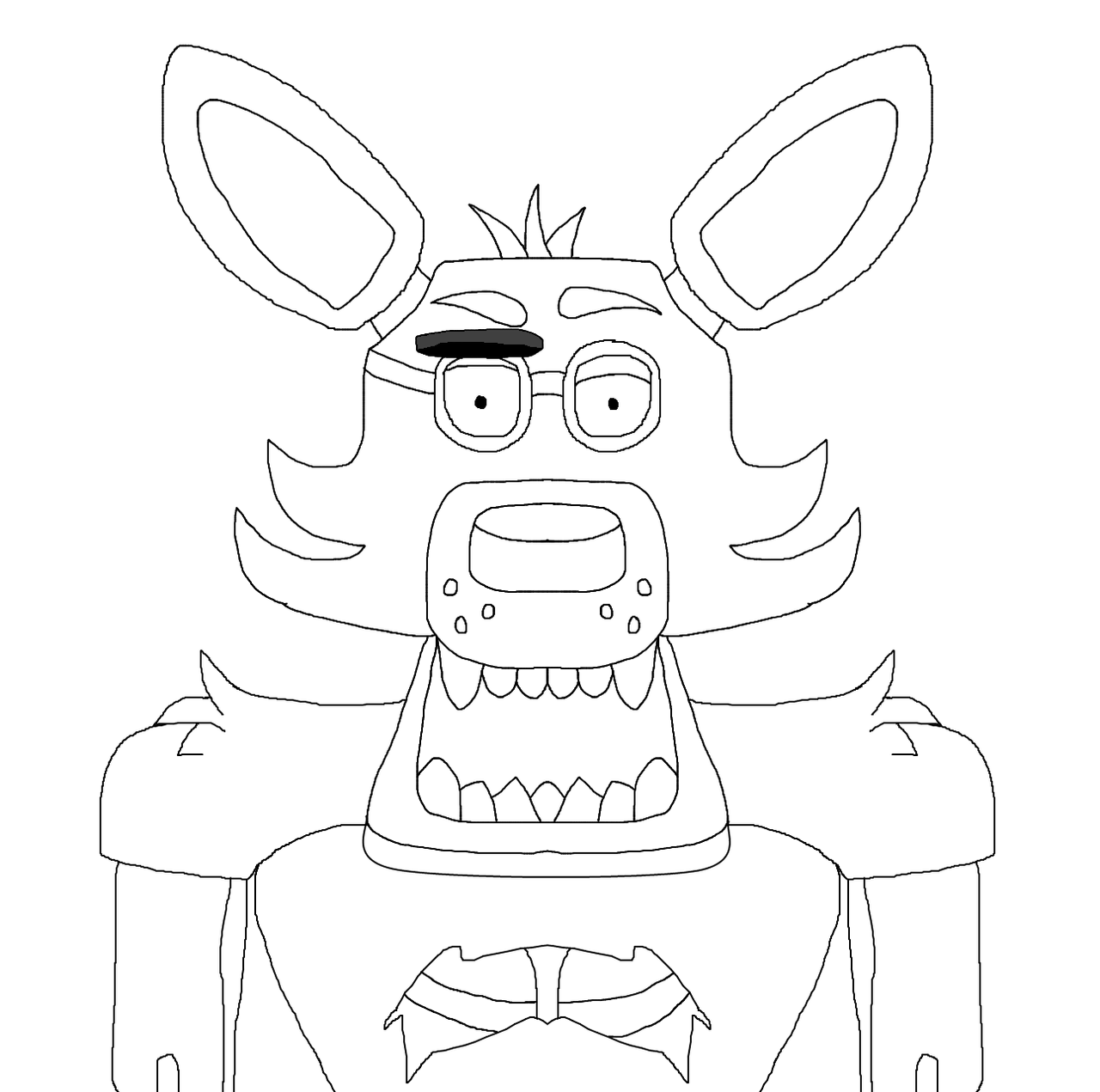 foxy the pirate coloring pages - photo#12