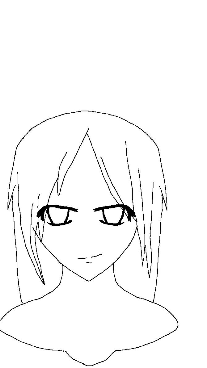 Anime Girl Lineart : Anime girl lineart by easterlil on deviantart