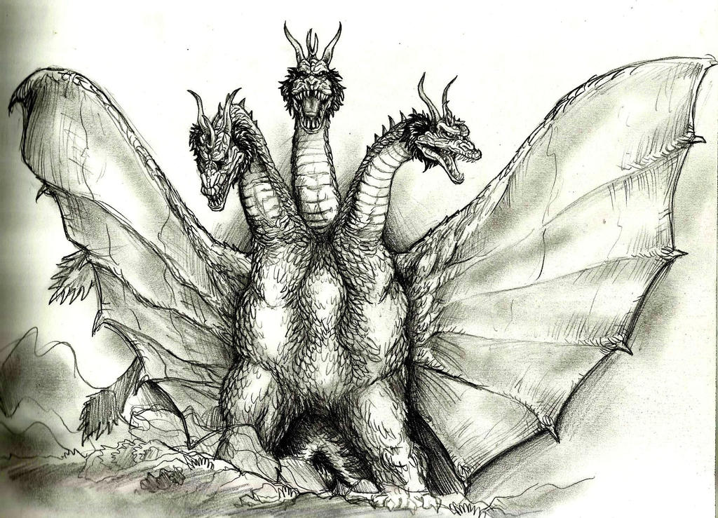 king ghidorah by Lengsel-Archetype on DeviantArt