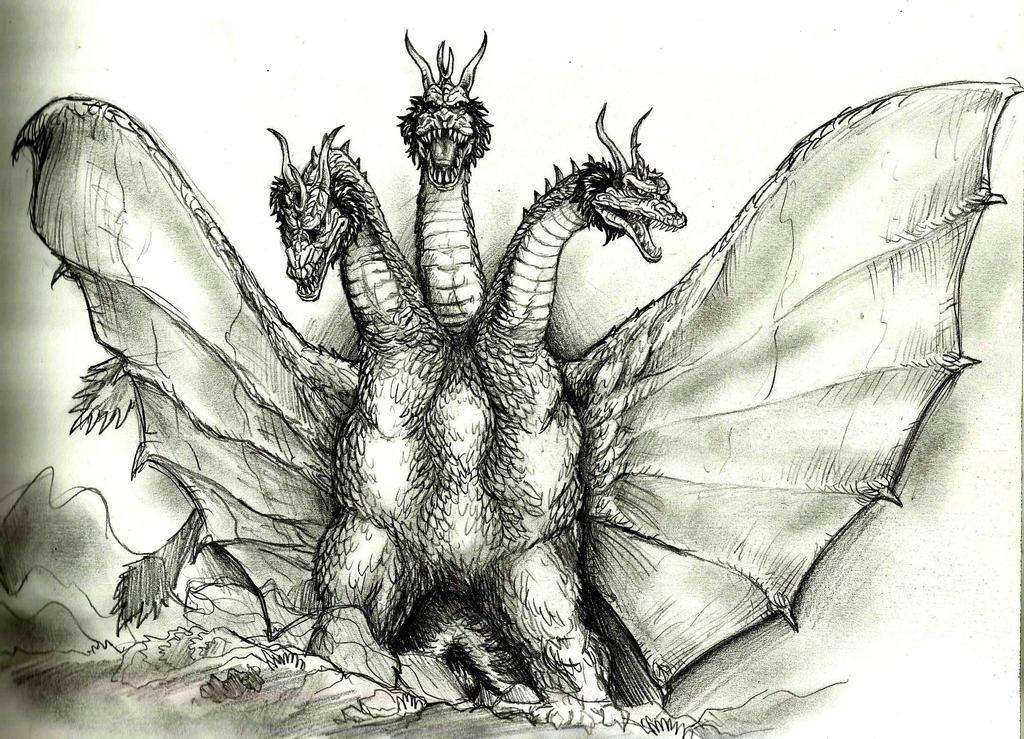 king ghidorah by Lengsel-Archetype on DeviantArt