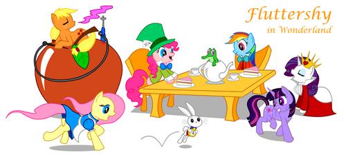 MLP: Fluttershy in Wonderland by MonteCreations