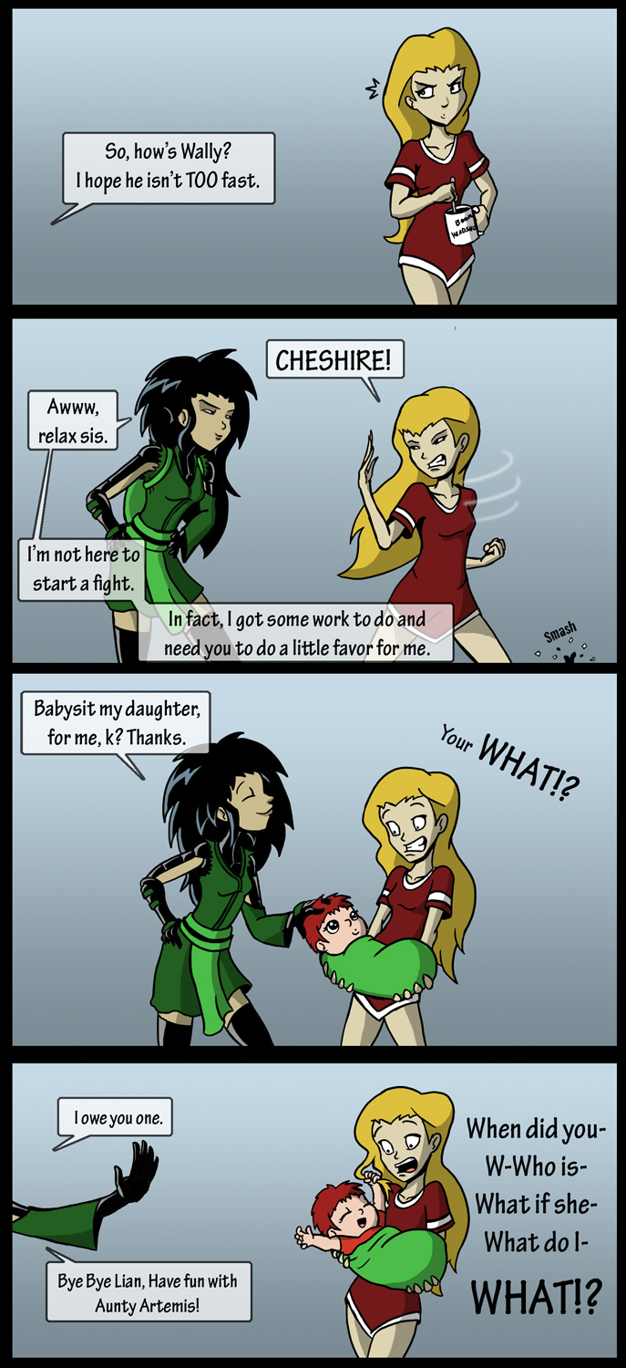Young Justice: Babysitter by MonteCreations