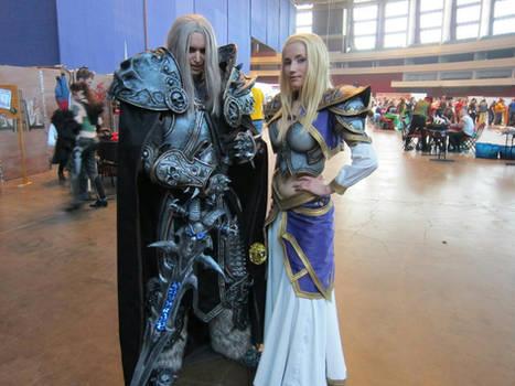 Arthas and Jaina at Comic Con Saint Petersburg