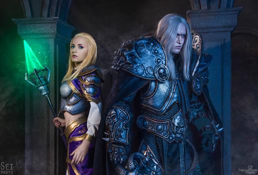 Arthas and Jaina cosplay - World of Warcraft
