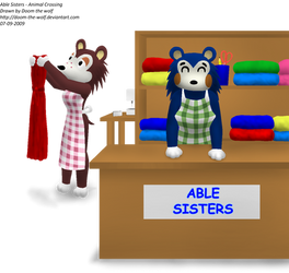 Able Sisters - Animal Crossing by Doom-the-wolf