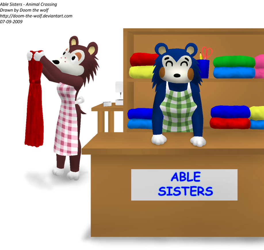 Able Sisters Animal Crossing By Doom The Wolf On Deviantart