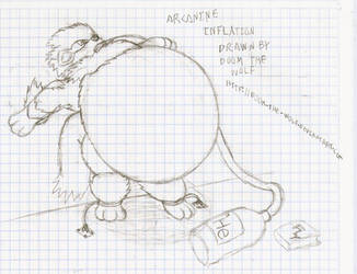 Arcanine Inflation by Doom-the-wolf
