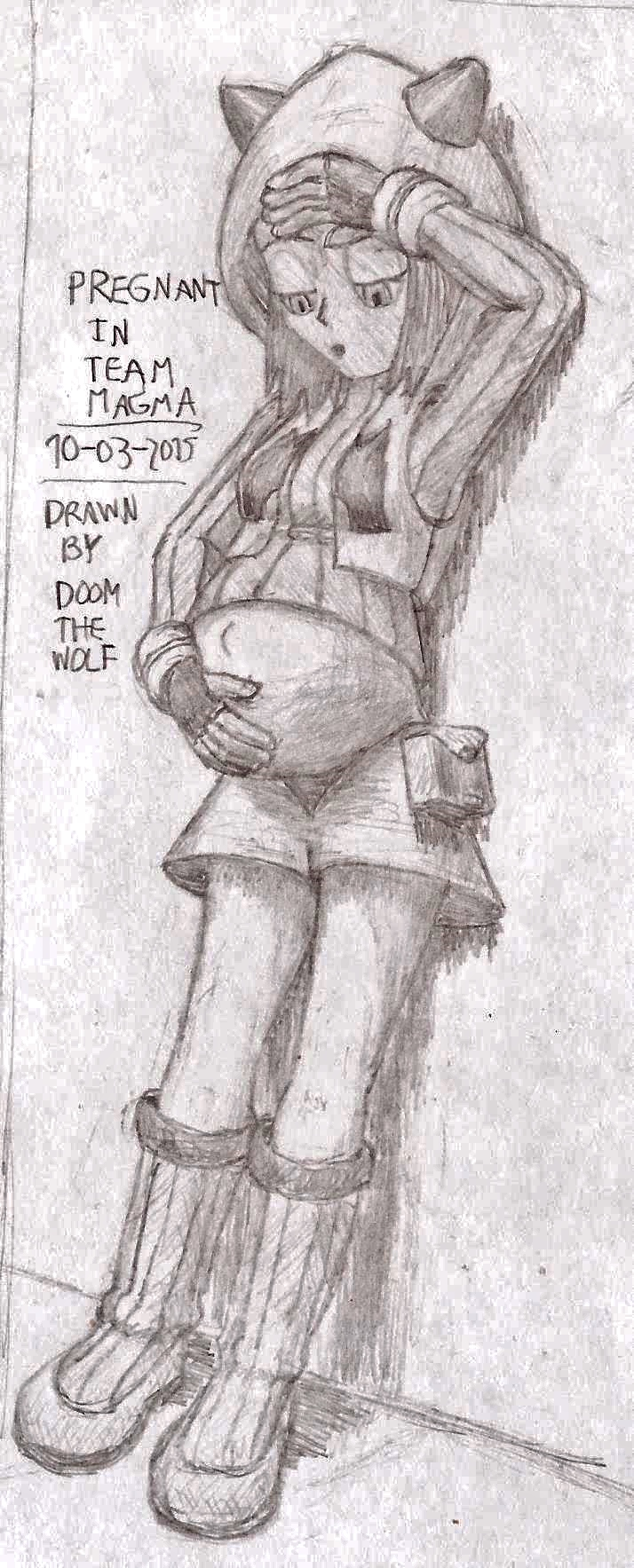 Pregnant In Team Magma By Doom The Wolf On Deviantart