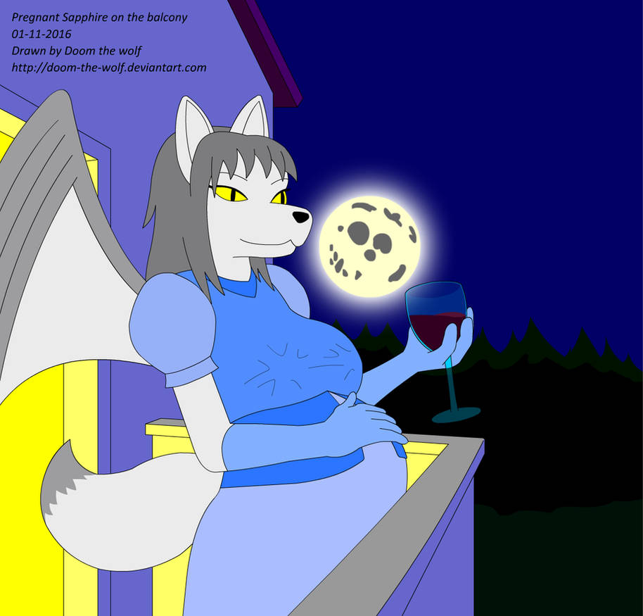 Pregnant Sapphire On The Balcony By Doom The Wolf On Deviantart