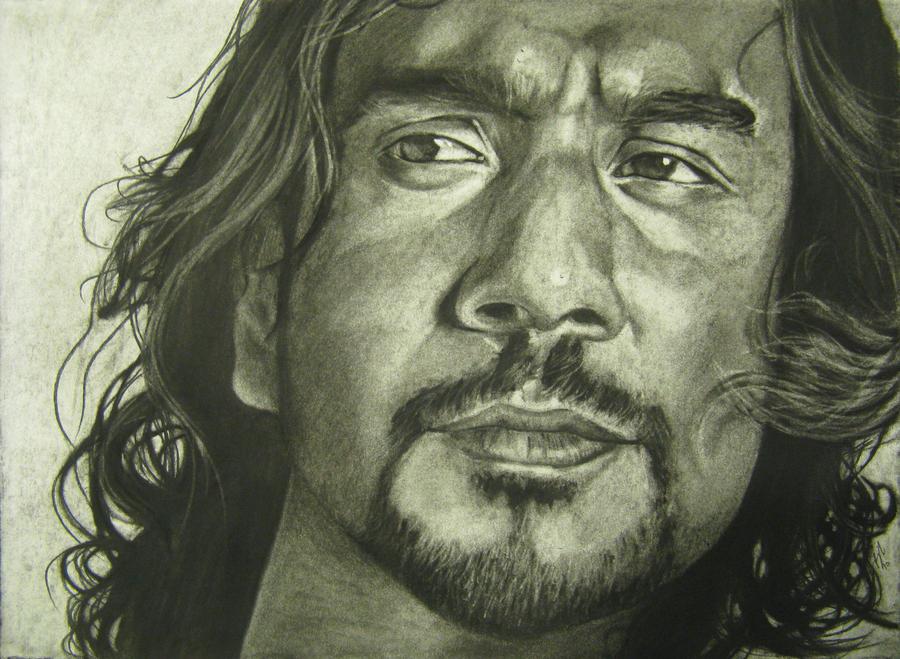 dibijos a lápiz. Sayid_by_burnt_sticks
