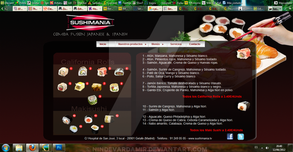 Web Sushimania Maki y Roll by PatriciaCG