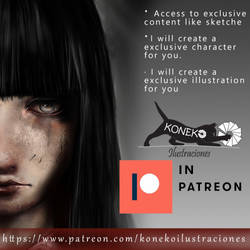 KONEKO ILLUSTRATIONS IN PATREON NOW by PatriciaCG