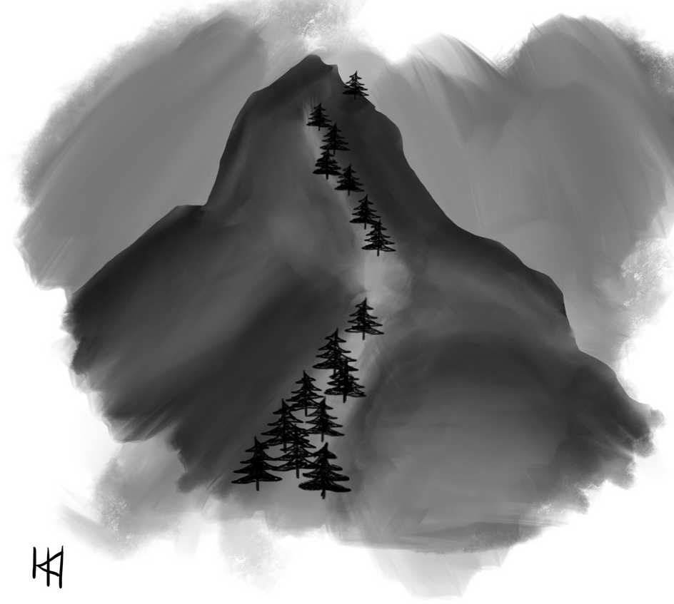 Charcoal Mountain by spinted