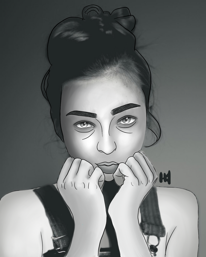 Grayscale Girl by spinted