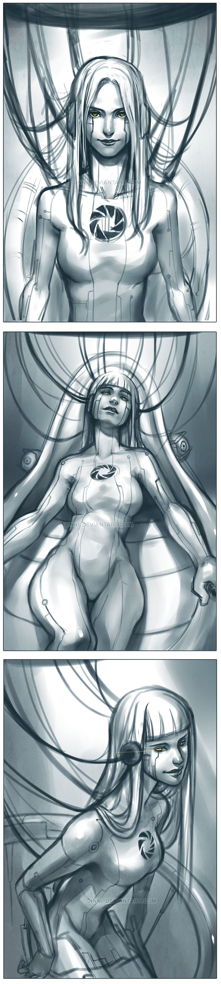 GLaDOS - sketch by Qinni