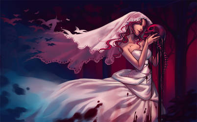 The Bride - wallpaper by Qinni
