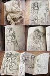 Ink Pen Sketches.