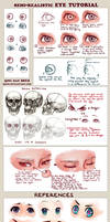Semi-realistic + anime Eye Tutorial and References