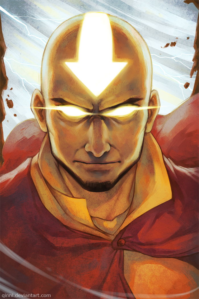 Avatar Aang by Qinni