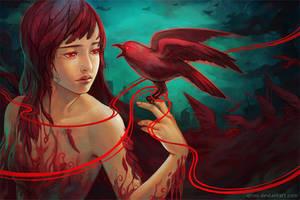 The Crows Whispering by Qinni