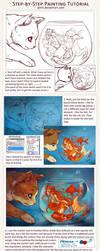 Step-by-Step Digital Painting Tutorial by Qinni