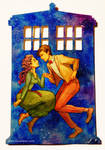 The Doctor's Wife - Watercolor cut-out