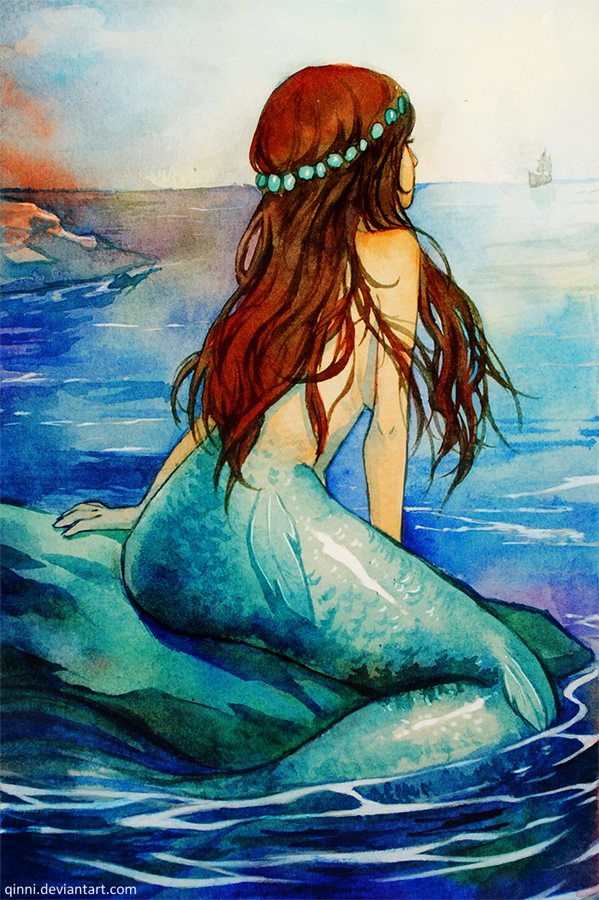 Little Mermaid - Waiting for her Prince by Qinni