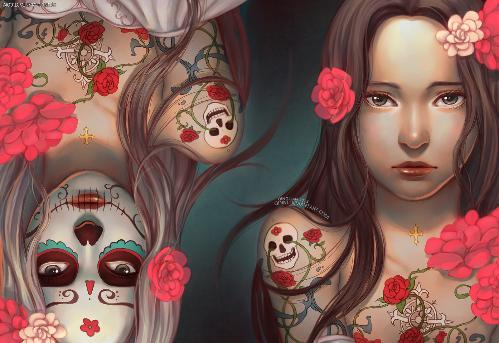 Dia De Los Muertos Day Of The Dead Wallpaper By Qinni On Deviantart