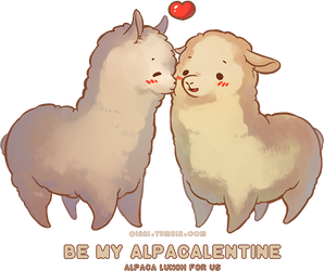 Happy Alpacalentines by Qinni