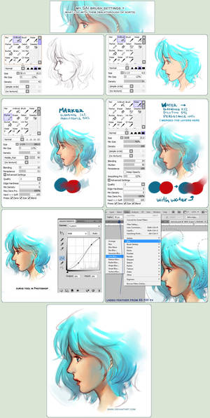 SAI Brush Setting+how they're used + Walkthrough