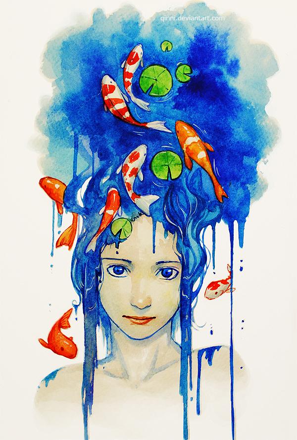 Koi Pond by Qinni