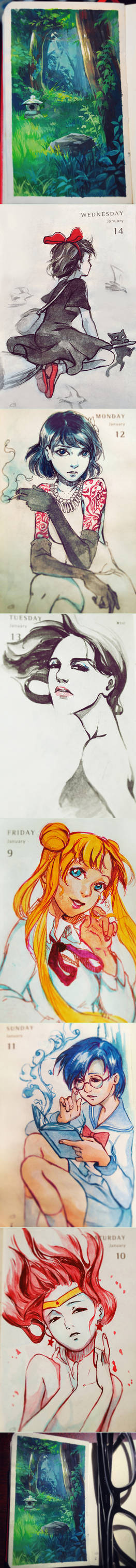 Daily Painting - week 2